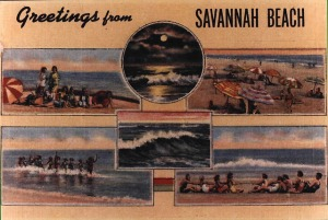 "Old ""Savannah Beach"" postcard"