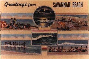 "Old ""Savannah Beach"" postcard"
